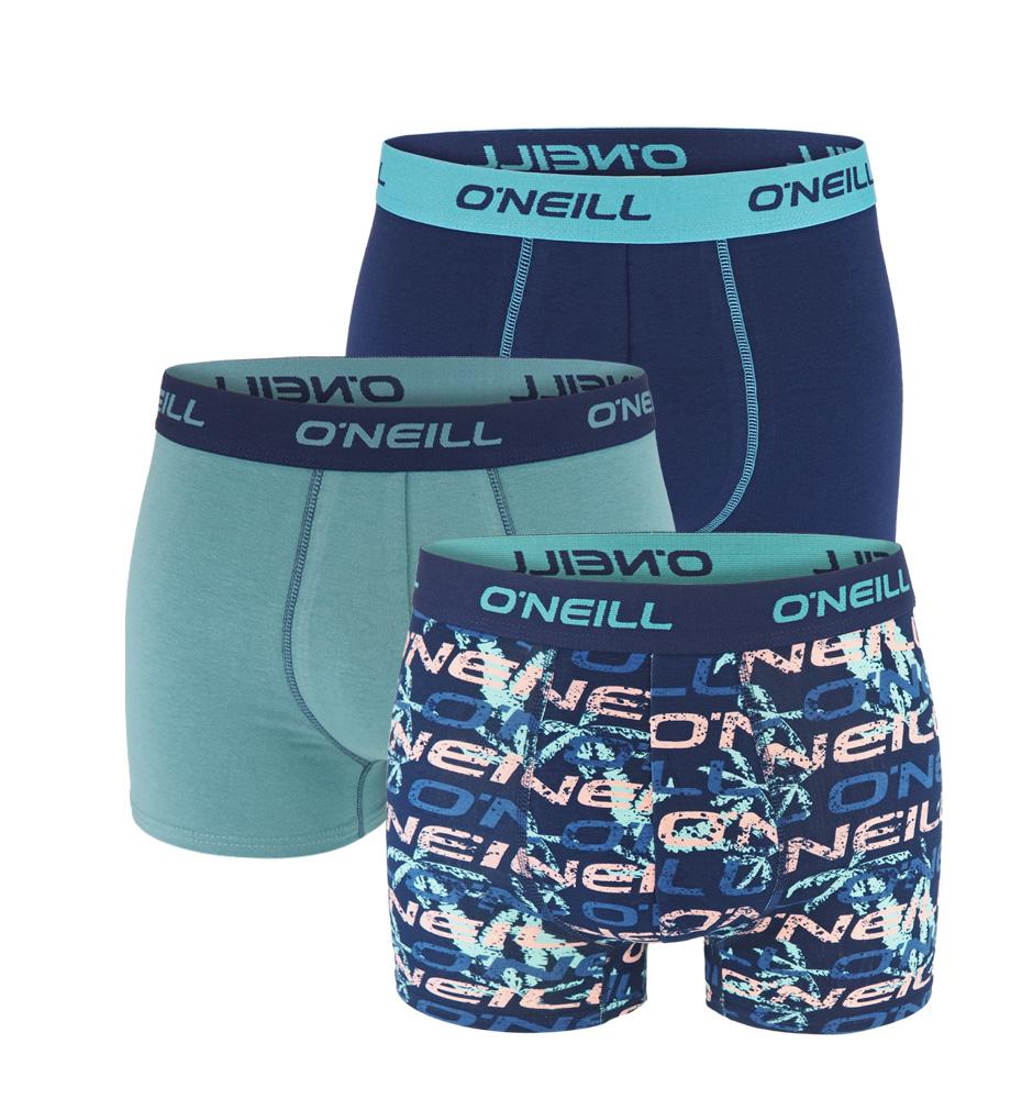O'NEILL - 3PACK logo navy cloud boxerky z organickej bavlny-XXL (103-108 cm)