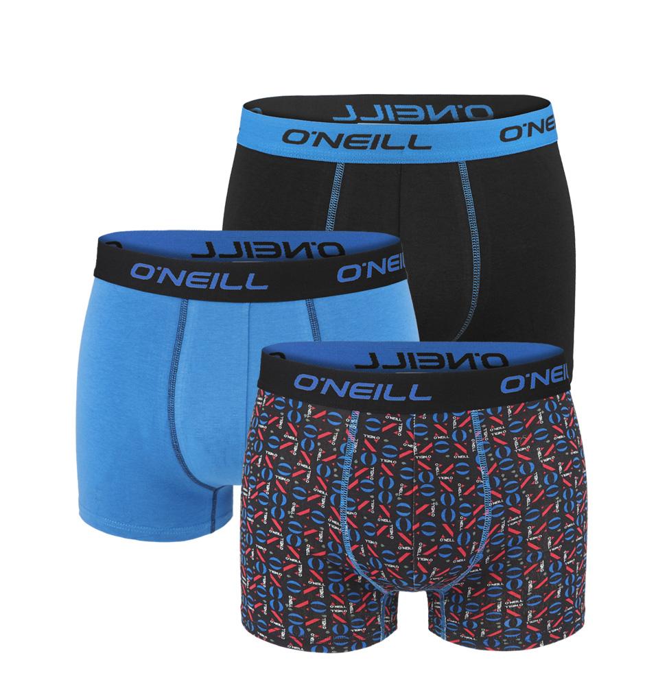 O'NEILL - 3PACK blue logo print boxerky z organickej bavlny-M (82-88 cm)