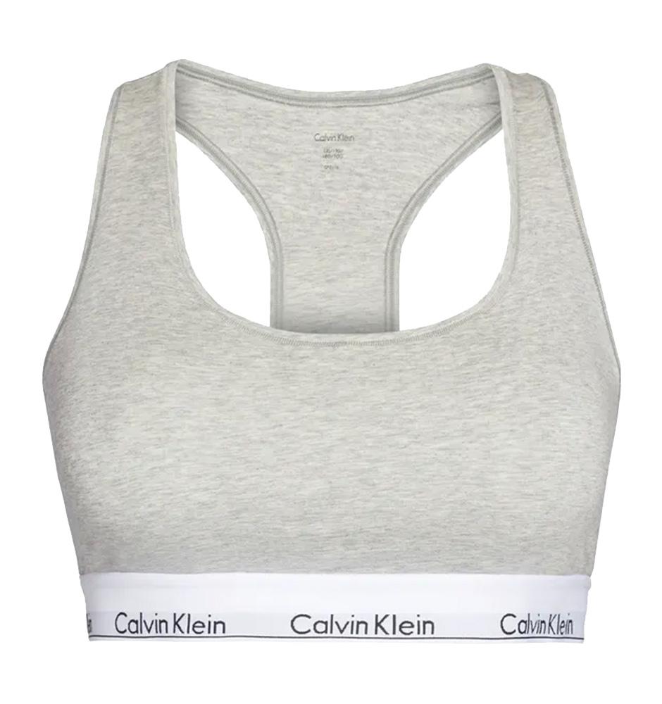 Calvin Klein - Bralette Cotton Stretch sivá plus size-XL