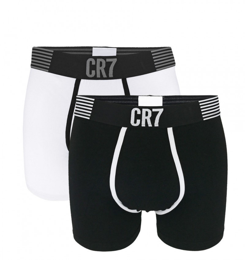 CRISTIANO RONALDO CR7 - 2PACK Black & white boxerky