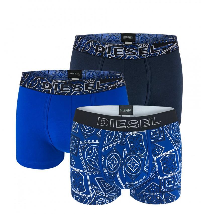 DIESEL - 3PACK Folk blue boxerky