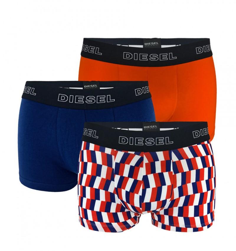 DIESEL - 3PACK Shawn oranžové a modré boxerky