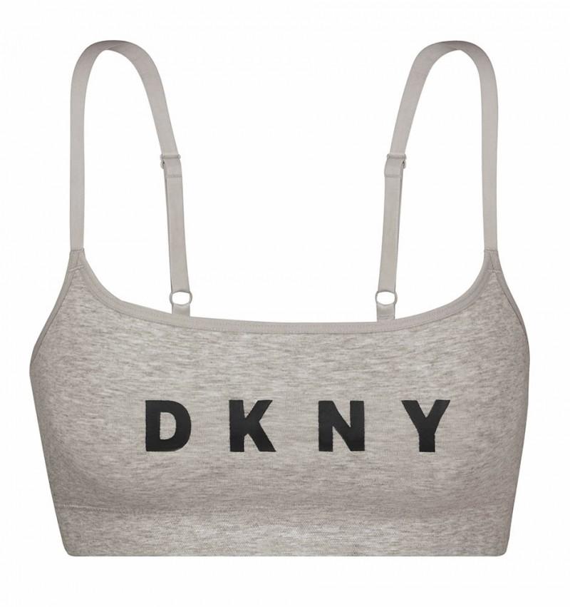 DKNY - Sivá nevystužená športová braletka1