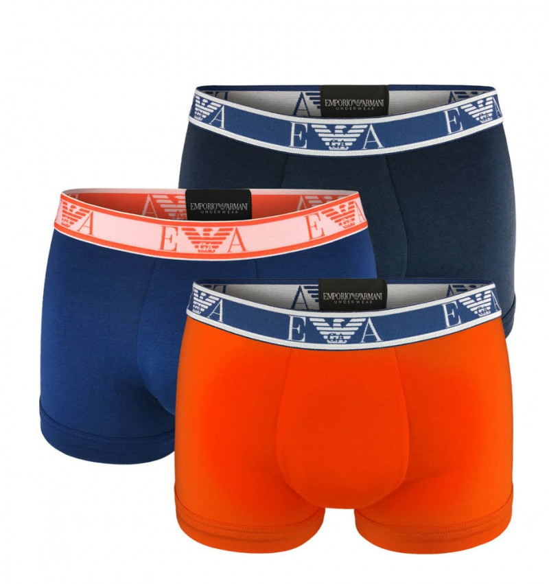EMPORIO ARMANI - 3PACK stretch cotton aranc boxerky