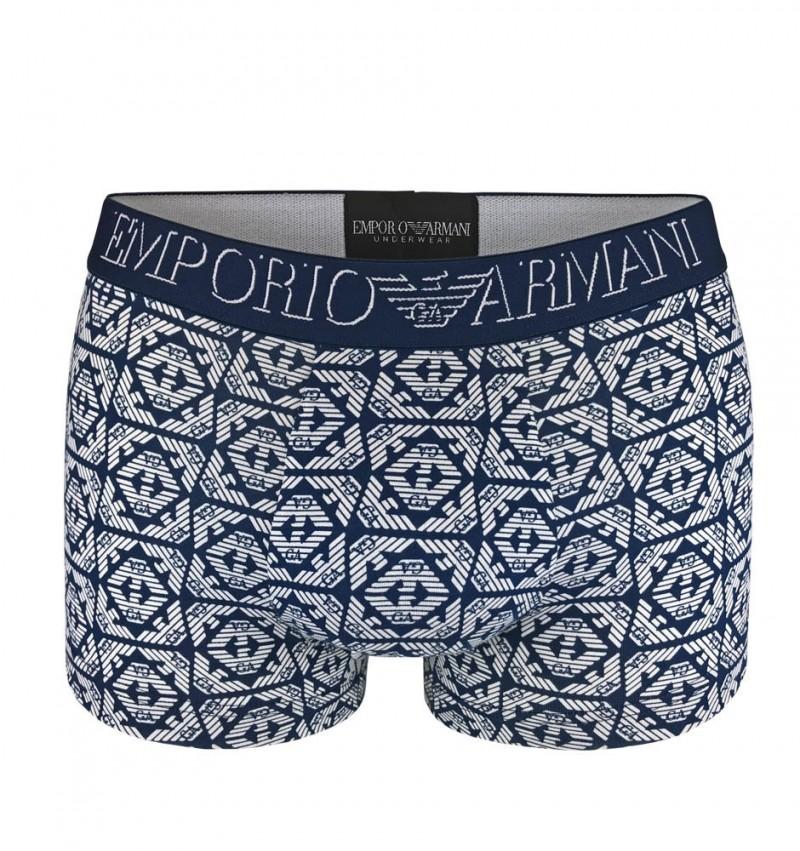 EMPORIO ARMANI - stretch cotton bluette boxerky 1