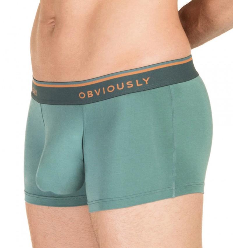 OBVIOUSLY - Everyman anatoMax teal boxerky