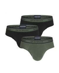 EMPORIO ARMANI - 3PACK stretch cotton military slipy