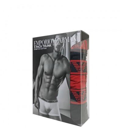 EMPORIO ARMANI - 3PACK stretch cotton rosso boxerky