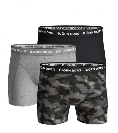 BJÖRN BORG - 3PACK Gray camo boxerky