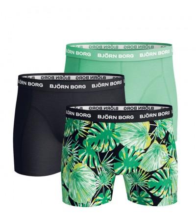 BJÖRN BORG - 3PACK - Green garden boxerky