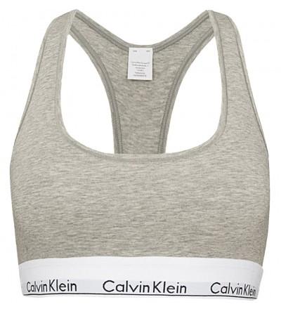 Calvin Klein - Bralette Cotton Stretch sivá