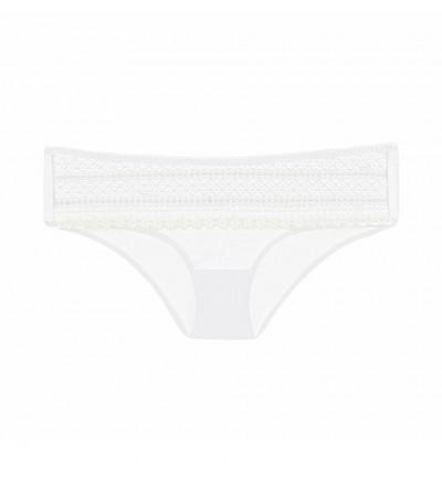 DKNY - Lace biele polopriehľadné čipkované nohavičky1