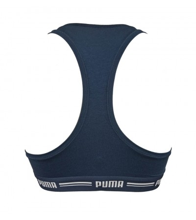 PUMA - Racerback tmavomodrá športová podprsenka
