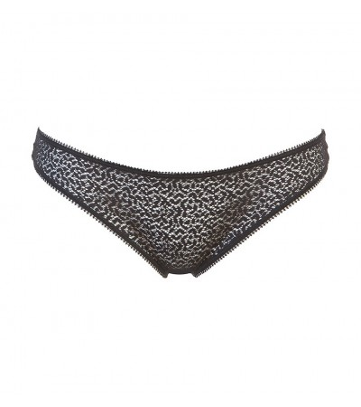 DKNY - Modern lace čierne čipkované tangá1