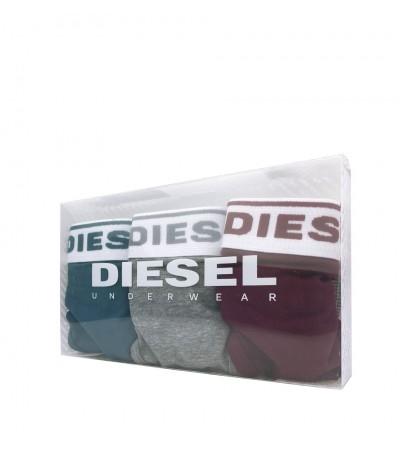DIESEL - 3PACK bordové, sivé a modré tangá