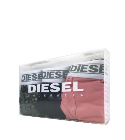 DIESEL - 3PACK klasické čierne, ružové a maskáčové nohavičky