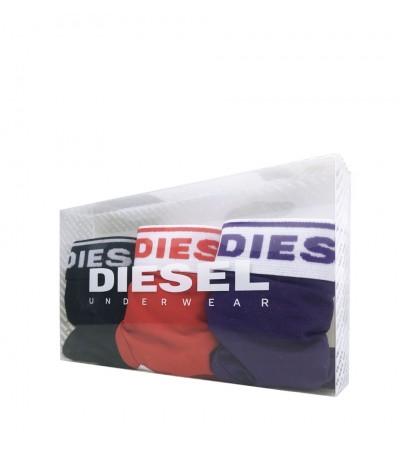 DIESEL - 3PACK červené, fialové a čierne tangá