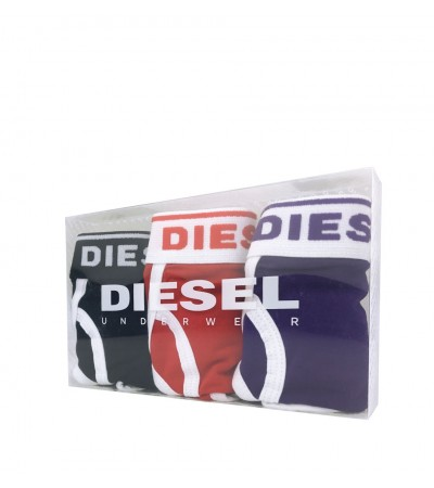 DIESEL - 3PACK klasické červené, fialové a čierne nohavičky