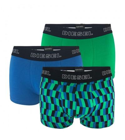 DIESEL - 3PACK Shawn zelené a modré boxerky
