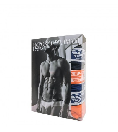 EMPORIO ARMANI - 3PACK cotton stretch aranc slipy