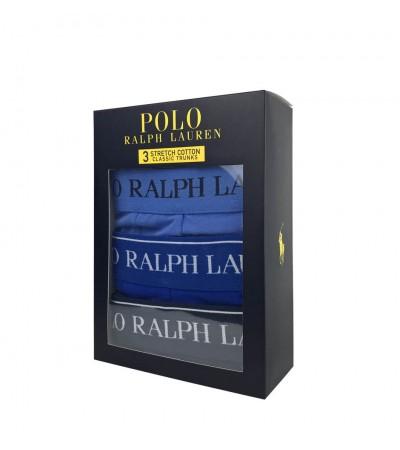 POLO RALPH LAUREN - 3PACK - Modré boxerky
