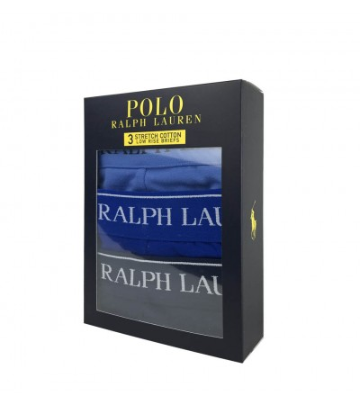POLO RALPH LAUREN - 3Pack modré slipy
