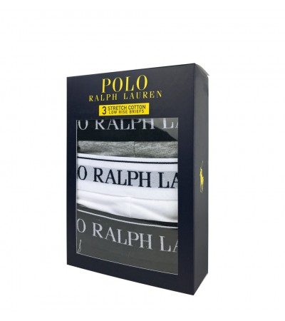 POLO RALPH LAUREN - 3Pack sivé, biele, čierne slipy