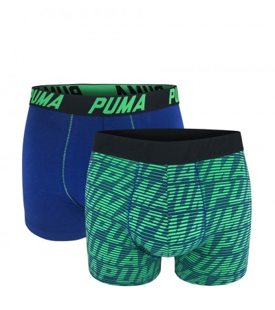 PUMA - 2PACK fashion optical blue & green boxerky