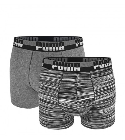 PUMA - 2PACK fashion space dye grey boxerky
