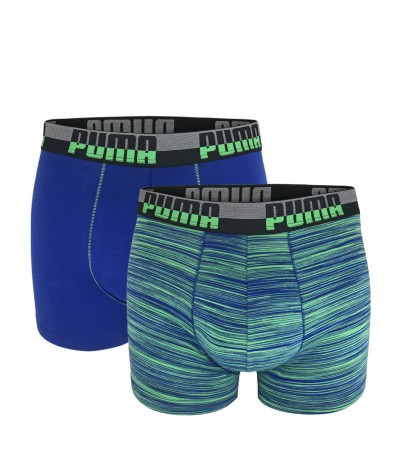 PUMA - 2PACK fashion space dye blue & green boxerky