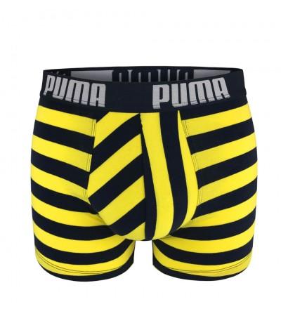 PUMA - 2PACK fashion stripe navy & yellow boxerky
