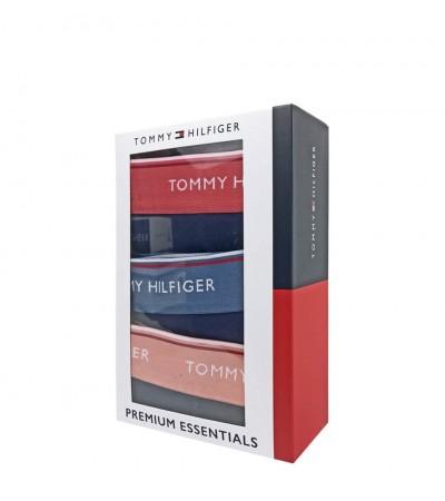 TOMMY HILFIGER - 3PACK Premium essentials modré fashion boxerky s farebným pásom 1