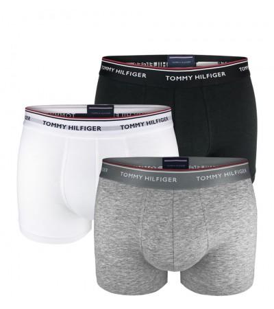TOMMY HILFIGER - 3PACK premium essentials čierne, sivé a biele boxerky 1