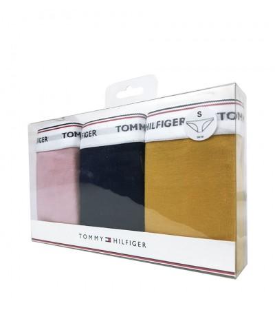TOMMY HILFIGER - 3PACK Essentials dámske žlté, tmavomodré a svetloružové nohavičky1