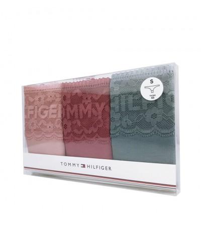 TOMMY HILFIGER - 3PACK logo lace farebné tangá1