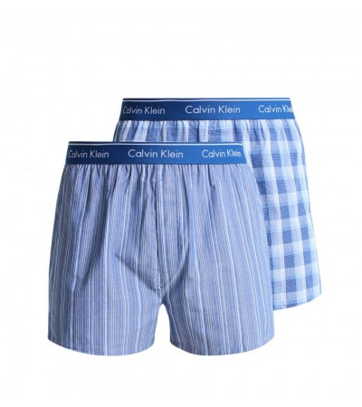 CALVIN KLEIN - 2PACK modré trenky