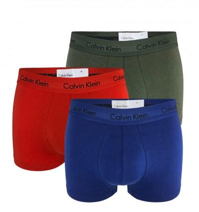 CALVIN KLEIN - 3PACK Cotton stretch farebné boxerky