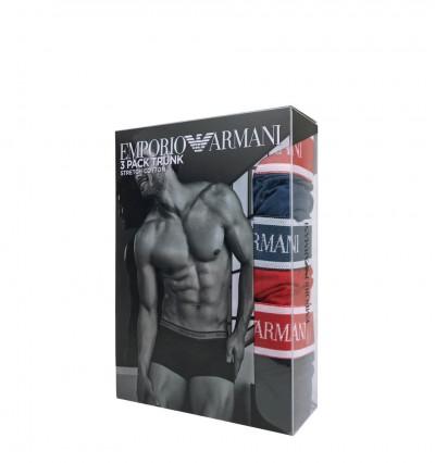 EMPORIO ARMANI - 3PACK stretch cotton cobalto boxerky