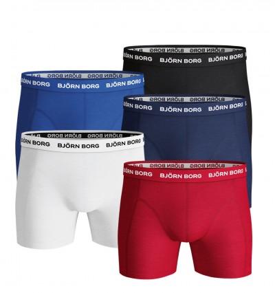 BJÖRN BORG - 5PACK Solid color farebné boxerky