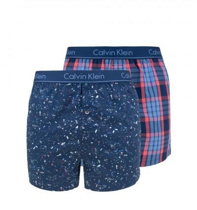 CALVIN KLEIN - 2PACK fashion color slim fit trenky 1