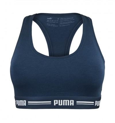 PUMA - Iconic Racerback tmavomodrá športová podprsenka