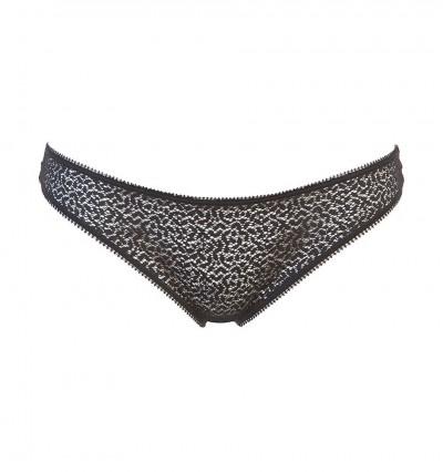 DKNY - Modern lace čierne čipkované tangá