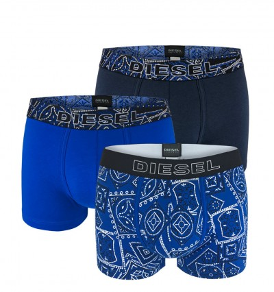 DIESEL - 3PACK Folk blue boxerky