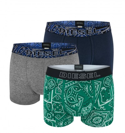 DIESEL - 3PACK Folk green boxerky