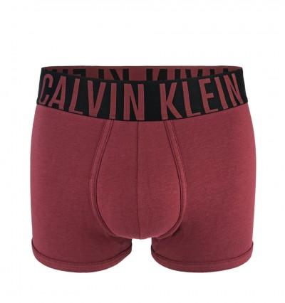 CALVIN KLEIN - Intense power cotton bordové boxerky