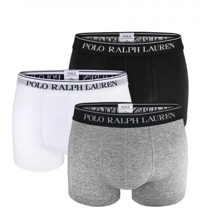 POLO RALPH LAUREN - 3PACK - Sivé, biele a čierne boxerky