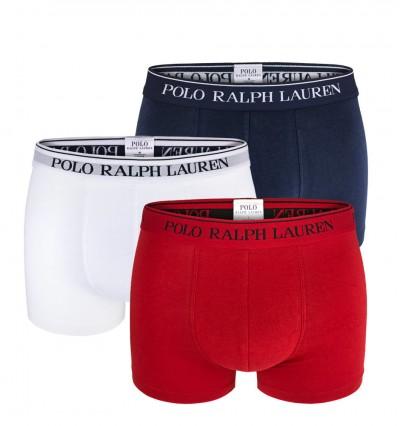 POLO RALPH LAUREN - 3PACK - Biele, červené a tmavomodré boxerky