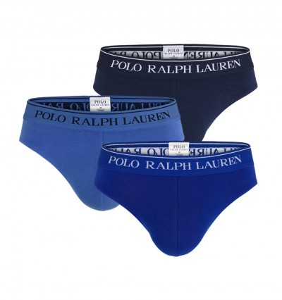 POLO RALPH LAUREN - 3Pack modré slipy