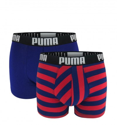 PUMA - 2PACK fashion stripe red & blue boxerky 1