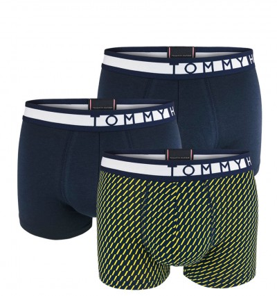 TOMMY HILFIGER - 3PACK premium inverted print yellow boxerky